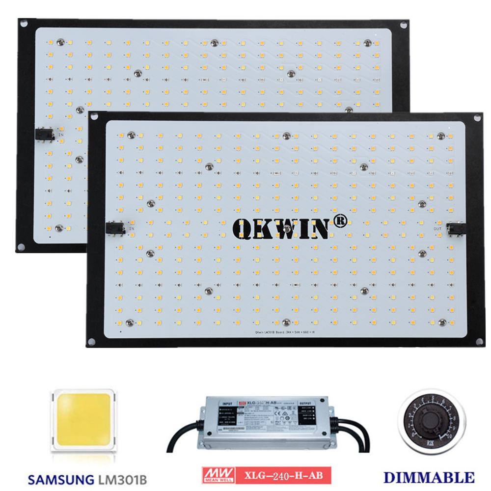 Spain dropshipping Quantum Board Samsung LM301B 240W Full Spectrum Grow Light LED Meanwell Driver for Plants Veg Blooming