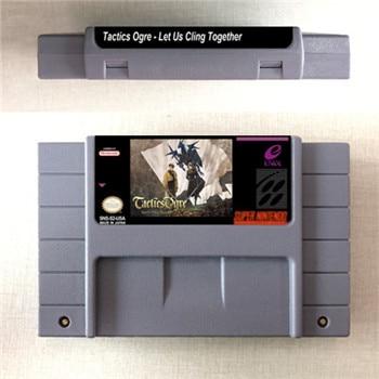 Tactics Ogre - Let Us Cling Together - RPG Game Card US Version English Language Battery Save