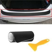 Balight 1x karbon Fiber araba arka tampon koruyucu köşe Trim Sticker aksesuarları siyah