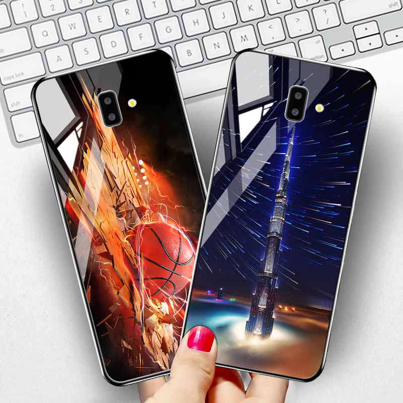 Tempered Glass <font><b>Case</b></font> for <font><b>Samsung</b></font> Galaxy S20 Plus A51 <font><b>Case</b></font> <font><b>Luxury</b></font> Star Space <font><b>Silicone</b></font> Cover On <font><b>Samsung</b></font> A6 A8 <font><b>J6</b></font> J4 Plus <font><b>2018</b></font> Cover image