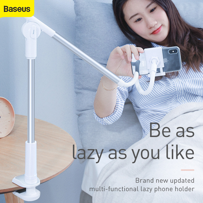 Baseus  Universal Phone Holder Adjustable Desktop Stand For Mobile Phone 360 Degree Rotating Holder For Iphone Android Huawei