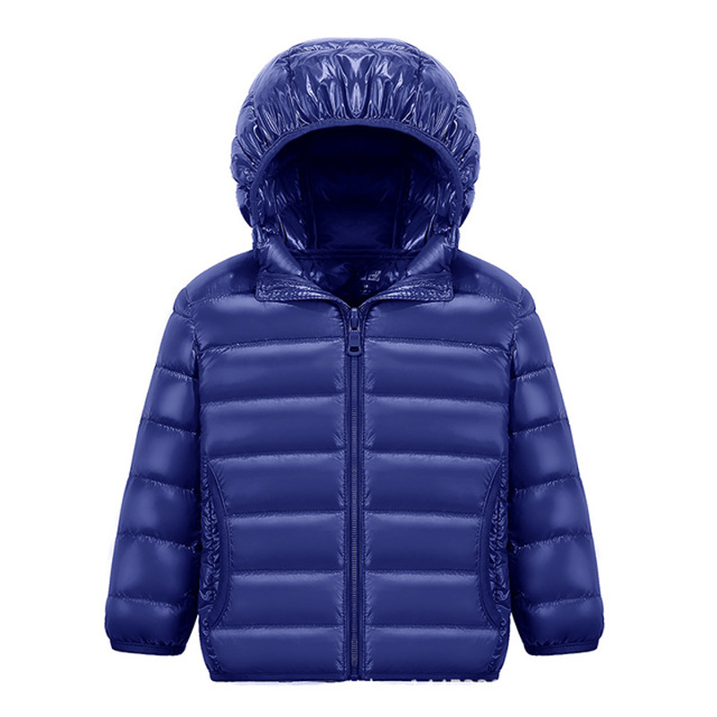 90% White DucK Down Winter Jackets for Boys Girls Ultra Light Portable Hooded Down Coat Overalls for Children Baby Down Jacket 3