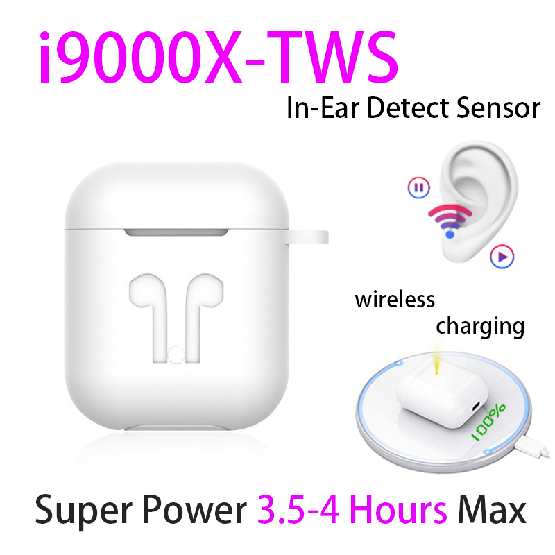 Original I9000 X TWS 1:1 In-ear Blutooth Earphone Mini Wireless Sport Headsets Headphones Stereo Earbuds Elari PK Aire 2 3 Pro