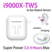 Original i9000 X TWS 1:1 in-ear bluetooth écouteurs Mini sans fil Sport casques écouteurs stéréo écouteurs elari PK Aire 2 3 pro