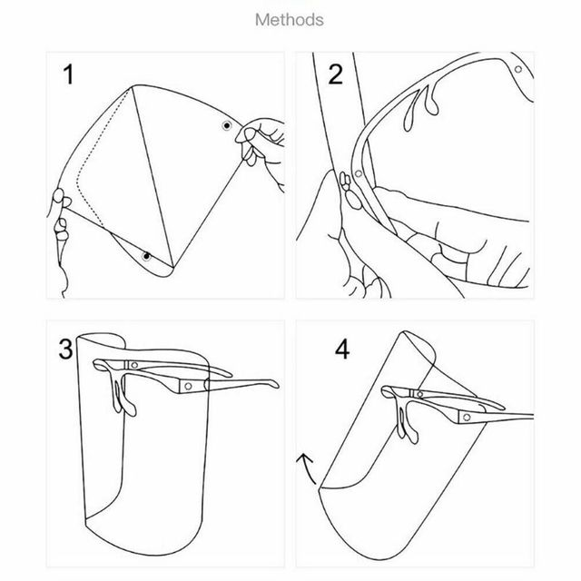 Full Face Transparent Anti-saliva Dust-proof Shield Flip Up Visor Oil Fume Protection Masks Visor Shield 3