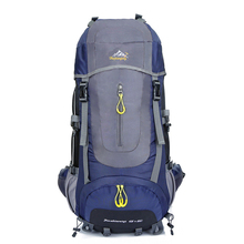 70L Sport Bag Men Women Camping Hiking Backpack Large Capacity Outdoor Backpacks Climbing Fishing Waterproof Sports Travel Bag outdoor backpack waterproof large capacity mounting bag travelling bag 70l polyester honeycomb breathable pad