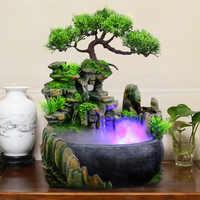 Wasserfall Desktop Brunnen Mit Ändern Zen Meditation Wasserfall Figuren Für Haus Büro Dekoration