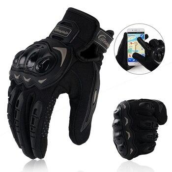 Guantes de Moto de carreras transpirables con dedos completos y pantalla táctil Guantes de Moto de verano