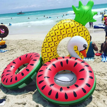 Large Inflatable Circle Pineapple Watermelon Swimming Ring Summer Party Pool Float Toys Game Decoration Kid Adult Giant Lifebuoy