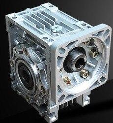 NMRV040 86mm reduktor przekładni ślimakowej współczynnik redukcji 5:1 do 100:1 wejście 14mm wałek napędowy dla NEMA34 silnik krokowy