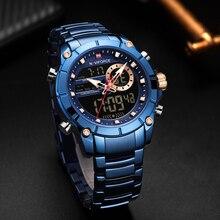 Nouveau NAVIFORCE Top marque de luxe hommes montre Quartz mâle horloge Design Sport montre étanche en acier inoxydable montre-bracelet Reloj Hombre