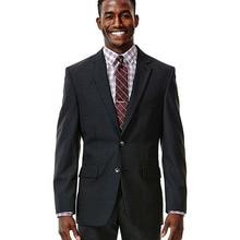 Elegante traje a rayas de sombra negra para hombre, traje a medida con rayas, traje a rayas ajustado estilo de moda 2019