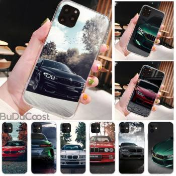 Diseny Blue Red Car For Bmw Phone Case for iPhone 11 pro XS MAX 8 7 6 6S Plus X 5S SE XR cover image