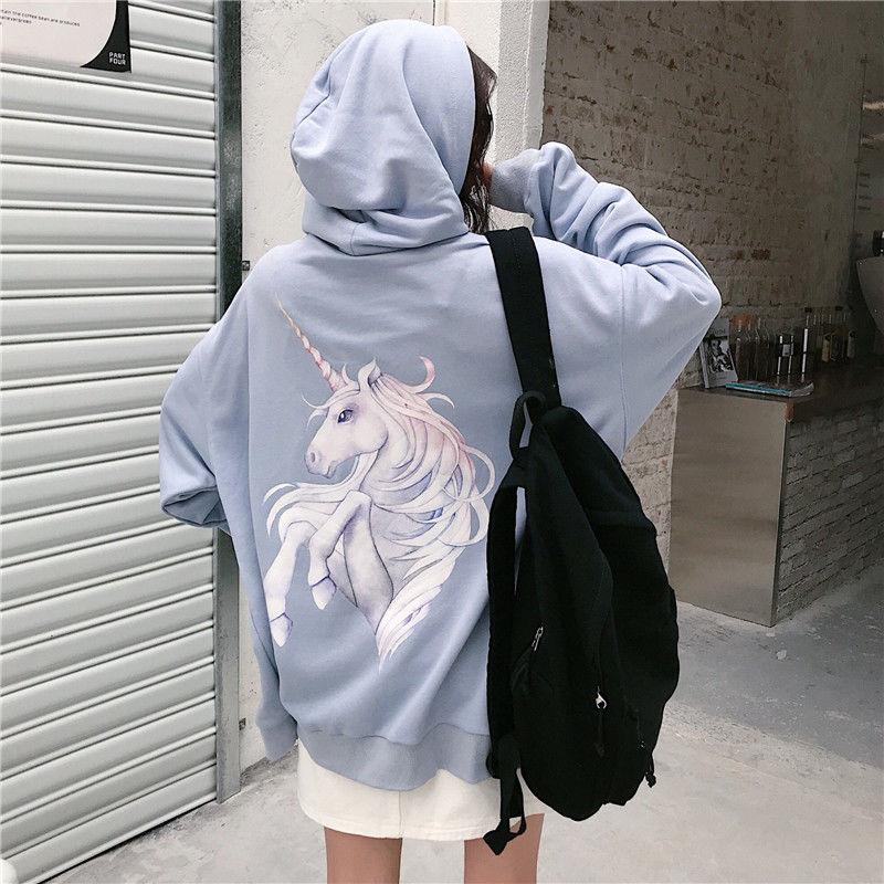 Harajuku with hat hoodies women zipper kangaroo pocket casual loose solid color sweatshirt female 2020 fashion new female tops 22