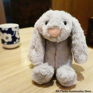 Image 3 - 3D Bunny Doll Case dla iPhone 11 Pro Max 6 6s 7 8 Plus X XR XS królik włosów Furry pokrywa dla Samsung S20 uwaga 10 + S10 S8 S9 S7 S6