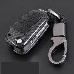 Étui fibre de carbone de coquille de clé de Protection automatique de voiture de Fiber de carbone pour Audi TT A7 A4 A4L 8S B9 Q5 A6L A5 A8 Q3 Q7 Access