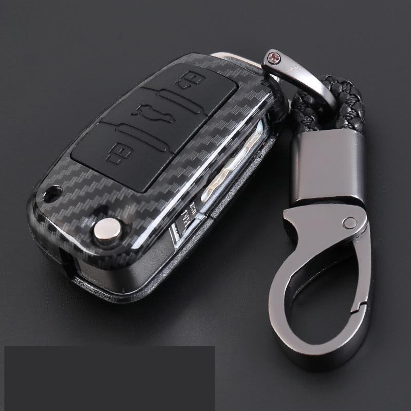 Carbon Fiber Car-Styling Auto Protection Key Shell Carbon Fiber Cover Case For Audi TT A7 A4 A4L 8S B9 Q5 A6L A5 A8 Q3 Q7 Access