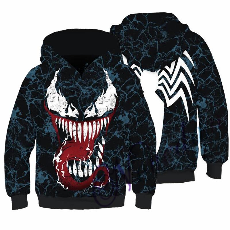 Kids Boys Hooded Endgame Cosplay Venom Man Sweatshirt Hoodie Costume Superhero Streetwear 1