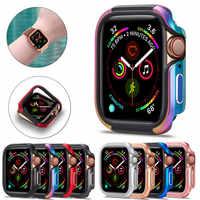Stoßstange Uhr Fall Abdeckung für Apple Uhr Fall 5 4 3 2 44MM 42MM 38MM Soft Clear TPU + Legierung Protector für iWatch 5 4 3 44MM 40MM