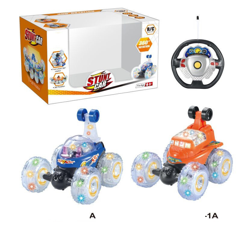 360 Roll Stunt Dumpers Light Music CHILDREN'S Toy Car Rechargeable Remote Control Car Electric Remote-control Automobile