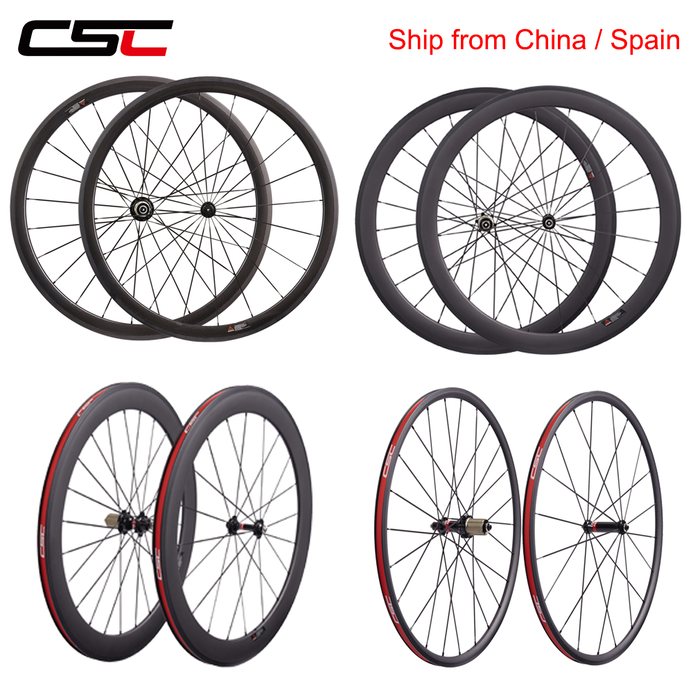 Super Light Chinese Carbon Wheels 50mm 60mm Bicycle Wheelset 1 Day Shipping