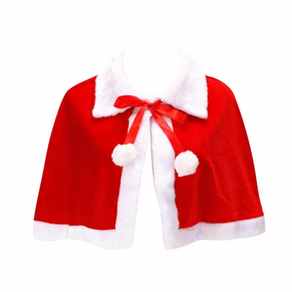 女性クリスマスポンチョ女性カジュアルクリスマスフェスティバル赤白サンタレッドコート服ジャケット пончо женское # NYL
