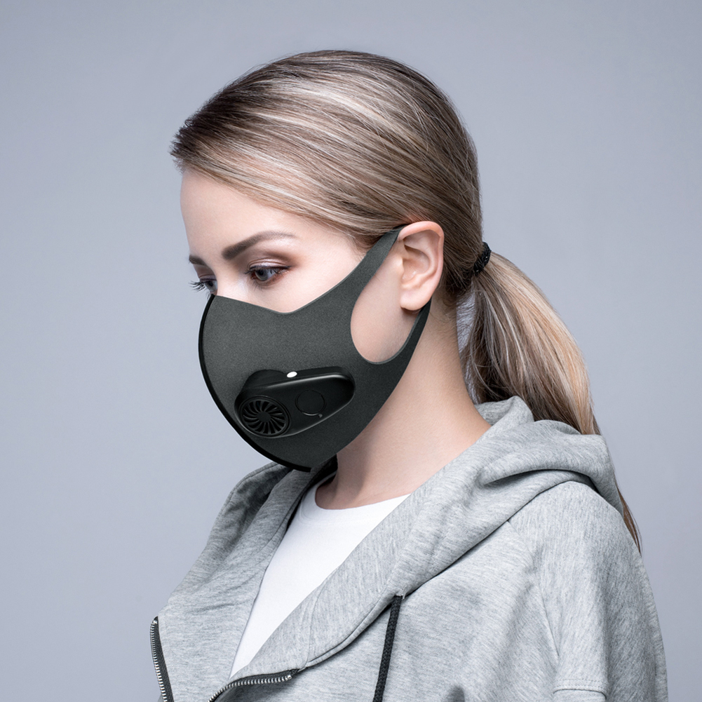 Brand New Reusable Electric Smart Mask Dust Particulate Respirator Dust Air Pollution Protective Multi-function Electric Mask