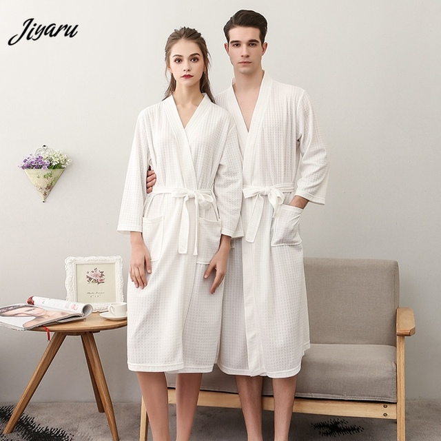 New Women Bathrobe Cotton Kimono Bath Robe Lovers Dressing Gown Bridesmaid Robes Comfortable Winer Warm Bath Robe Home Nightgown