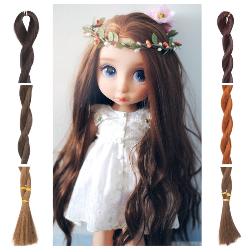 40cm High Temperature Hair extention Heat Resistant Doll Hair for 1/3 1/4 1/6 BJD Roman Curly Hair for Russian Handmade Doll image