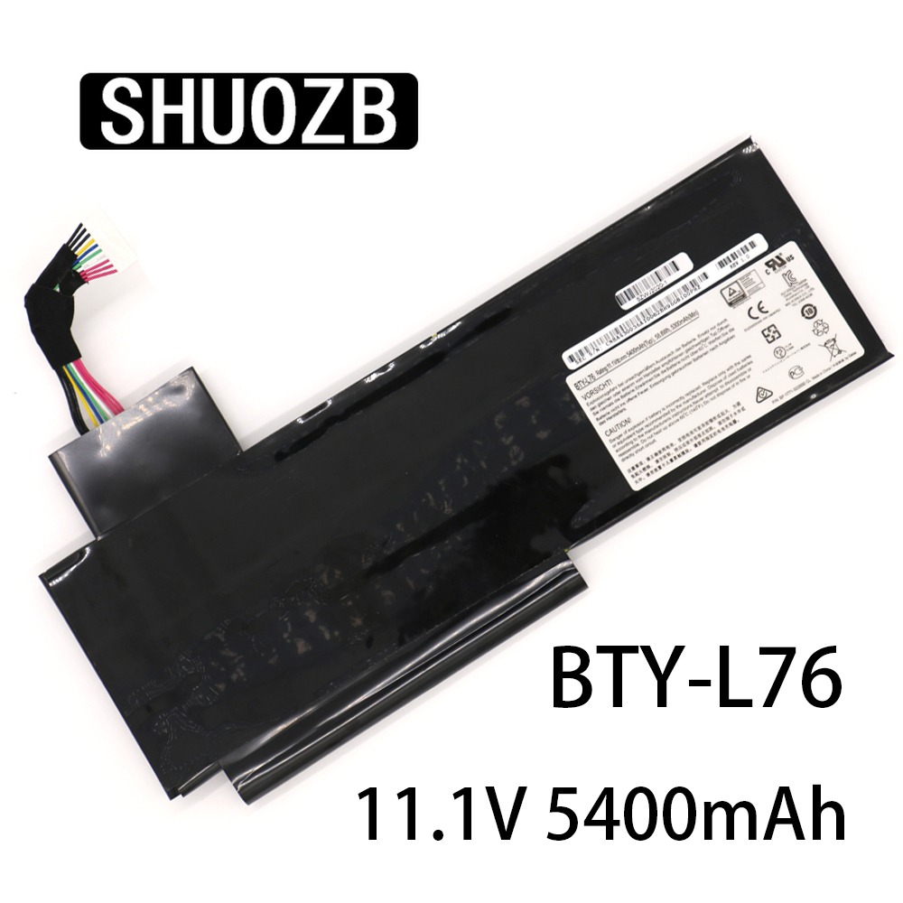 New BTY-L76 Laptop Battery For MSI GS70 2OD 2PC 2PE 2QC 2QD 2QE GS72 MS-1771 MS-1772 MS-1773 MS-1774 MEDION X7613 MD98802 SHUOZB