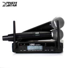 Профессиональная регулировка частоты 600-650 МГц UHF Беспроводная микрофонная система Dual SM58LC беспроводной ручной микрофон для SM 58 58LC речевой