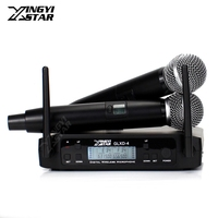 Professional Adjust Frequency 600 650Mhz UHF Wireless Microphone System Dual SM58LC Cordless Handheld Mic For SM 58 58LC Speech