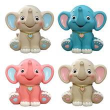 Karikatür bebek fil kumbara reçine kumbara para banka çocuklar çocuklar için doğum günü hediyeleri başlangıç depolama paraları