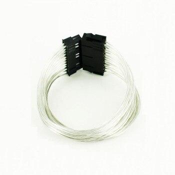 OULLX, fuente de alimentación PSU de 24 Pines, Cable de extensión, fuente de alimentación de 30cm macho a hembra, adaptador de alimentación del ordenador en c estañado de alta calidad