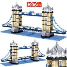 New City Creator Diamond Mini Architecture Tower the Oriental Pearl Tower Twin Bridges Building Blocks Bricks Toy for Children