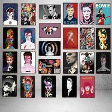 Bowie Star Tin Sign  Plaque Metal Vintage  Wall Music Bar Shop Home Hotel Art Decor Cuadros Wall Sticker 30X20CM DU-3419B свитшот print bar leia bowie