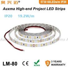 5730 60LEDs/m LED Strip,19.2W/m CRI80 IP20,DC12V/24V,300LEDs/Reel,5m/Reel,Non-waterproof for indoor living room bedroom hotel