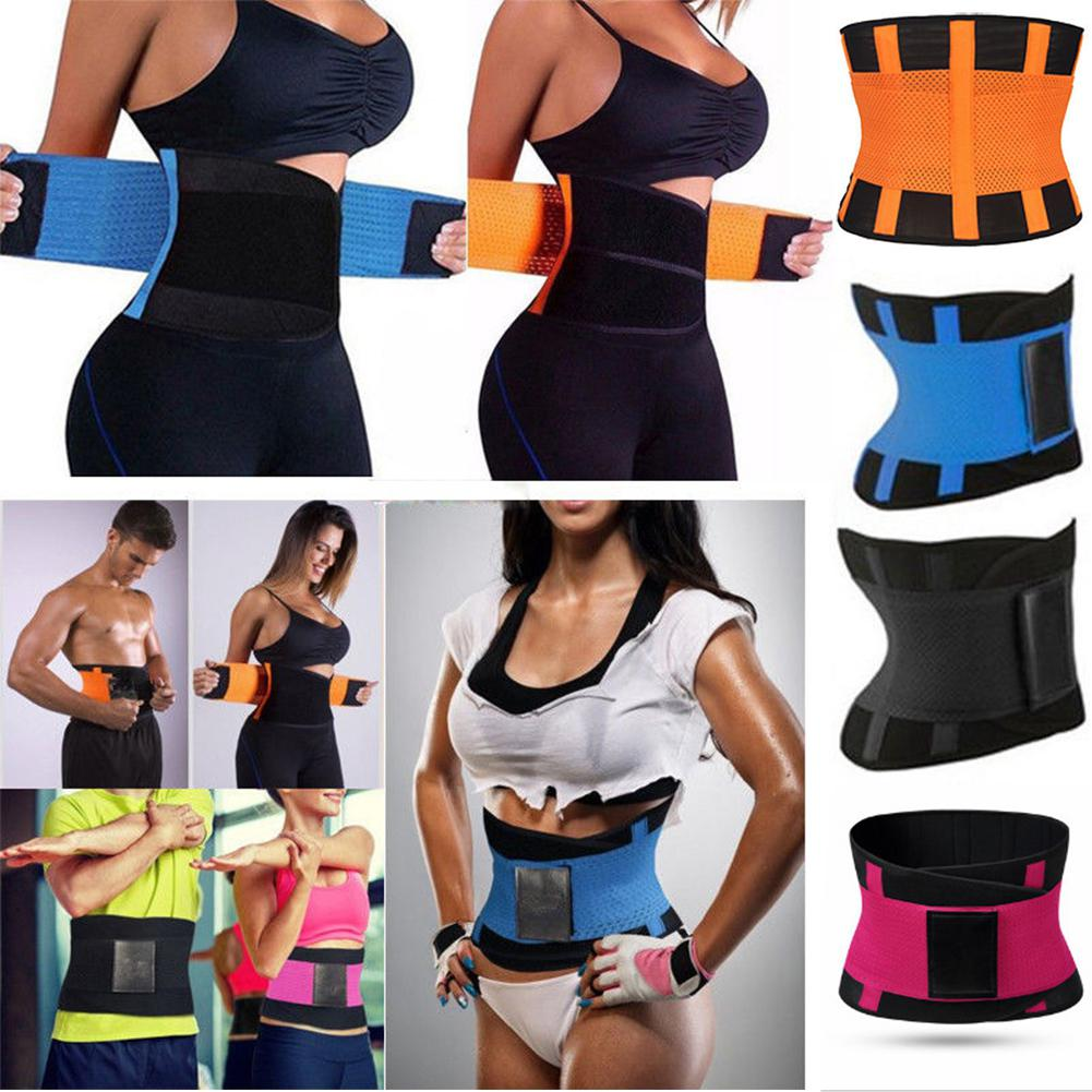 Kuulee Women Fashion Slimming Belt Body Shaper Waist Trainer Trimmer Sport Gym Sweating Fat Burning Slimming Belt