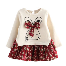Детское праздничное платье принцессы с рисунком кролика и кролика для маленьких девочек; Детские платья для девочек; Одежда для девочек; платье для девочек