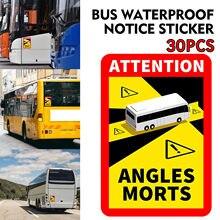 Etiqueta do carro ângulos mortos em veículos pesados ônibus à prova dwaterproof água adesivo de aviso do carro auto etiqueta acessórios exteriores do carro l.17 x h.25cm