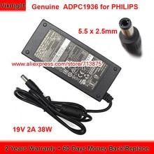 Véritable 19V 2A 38W ADPC1936 Adaptateur secteur pour PHILIPS 227E6L 224E ADPC1938EX 220C4LSB/93 226V4TFB/93 247ESQ 276E7Q Moniteur LCD
