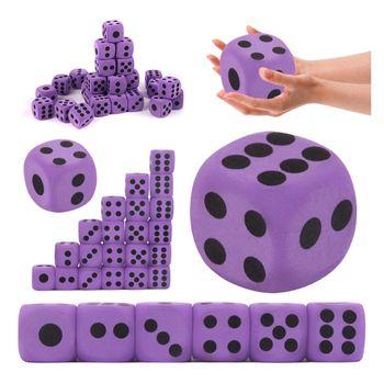 Lote de 6 uds. De dados de espuma EVA para niños, juguetes educativos para niños, juegos de dados para juegos de mesa