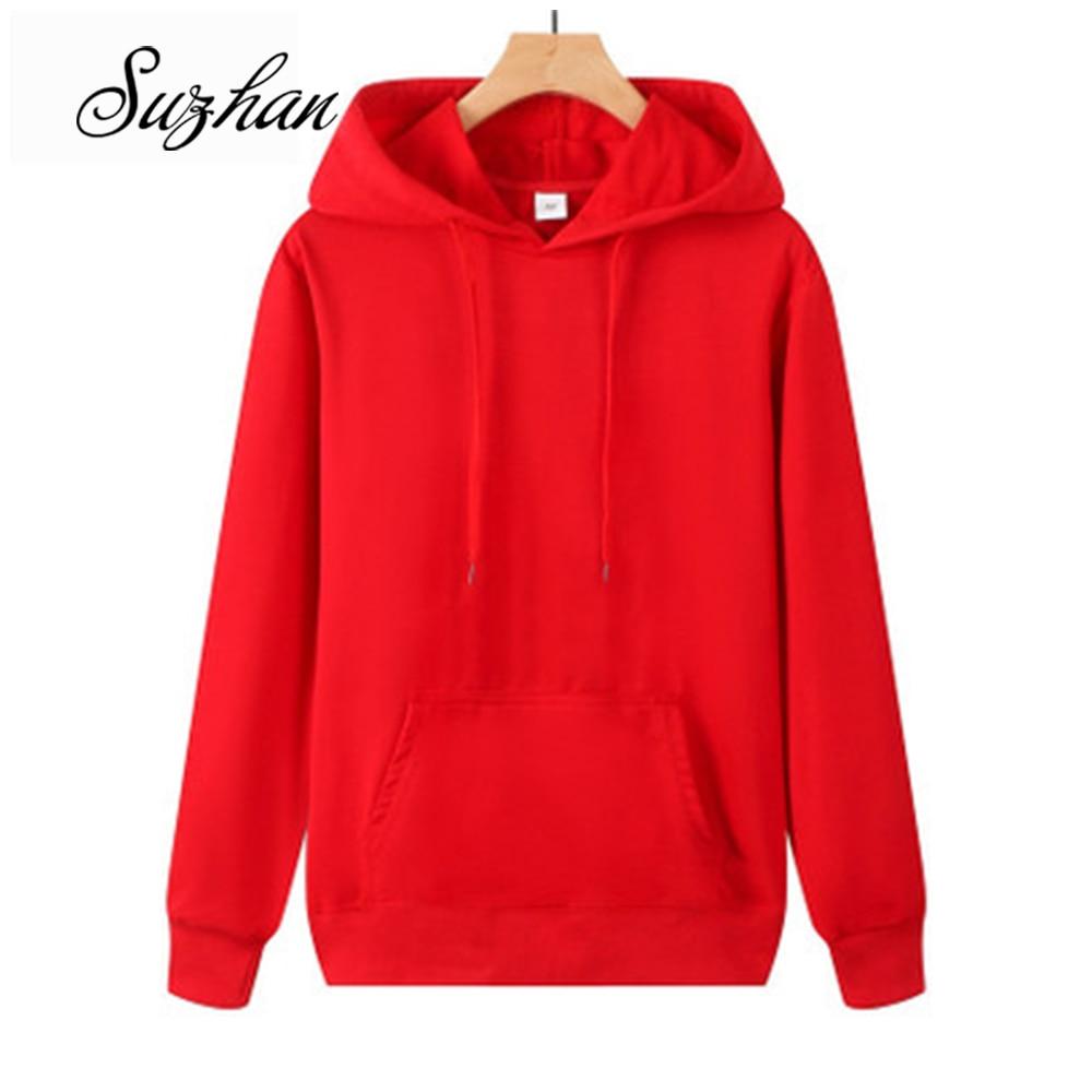 Suzhan 2019 Autumn Sweatshirts Women Hood Hoodies Long Sleeve Solid Casual Hooded Pullover Clothes Sweatshirt Women Tops