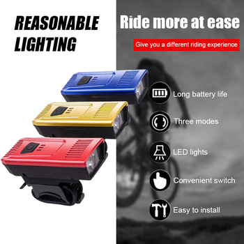 Bike Accessories Bicycle Front Light + Taillights USB Rechargeable Waterproof Power Display Highlight LED Lamp Cycle FlashLight image