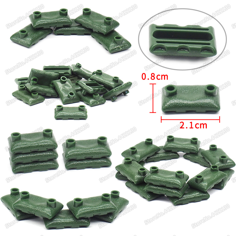 Sandbags Military Building Blocks Piece Lot Army Dedicated Special Forces Set Region Fortress Figures Weapons Moc Christmas toys in Blocks from Toys Hobbies