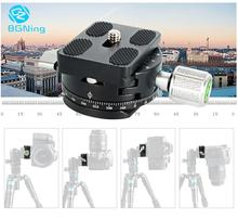 DSLR Camera Panoramic Shooting Clamp Tripod Monopod Release Plate Mount 360 Rotate For Arca Swiss camera tripod Conver Screw qr60 quick release plate with clamp mount adapter for tripod dslr camera accessories monopod camera ball head 1 4 screw mount