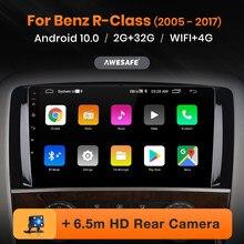 AWESAFE PX9 jugador para Mercedes Benz Clase R W251 R300 2005 - 2017 2Din Radio Android 4G Autoradio tablero Player GPS utilizat