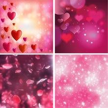 Laeacco День Святого Валентина светильник боке красные сердца
