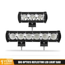 цена на DERI 8/14 inch LED light bar  30W 60W Single Row Spot Flood Led Work Light Bar for Offroad Truck SUV ATV Car led bar DC 12V 24V