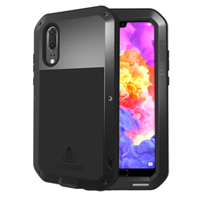Shockproof Case For Huawei P20 Pro Metal Fundas Lite Armor Phone Cover Rugged Capa